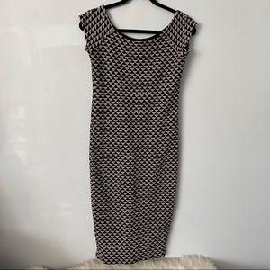 ZARA Trafaluc winter collection black&white dress